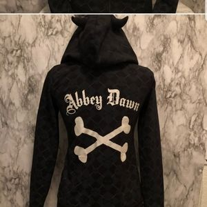 Abbey Dawn by Avril Lavigne skull black hoody